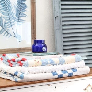 Check out my vintage painted shutters in Bergere by Miss Mustard Seed's Milk Paint!