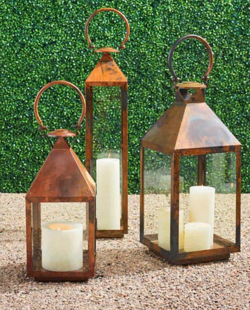 Solano copper lanterns from frontgate.com