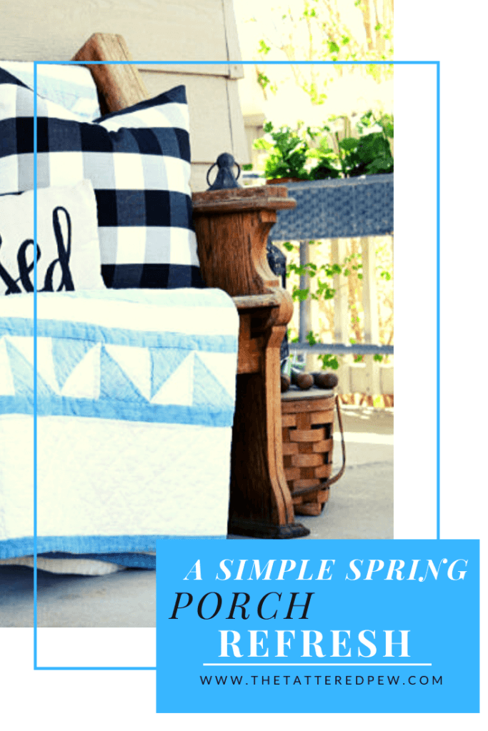 A simple Spring porch refresh that adds color and vintage touches!