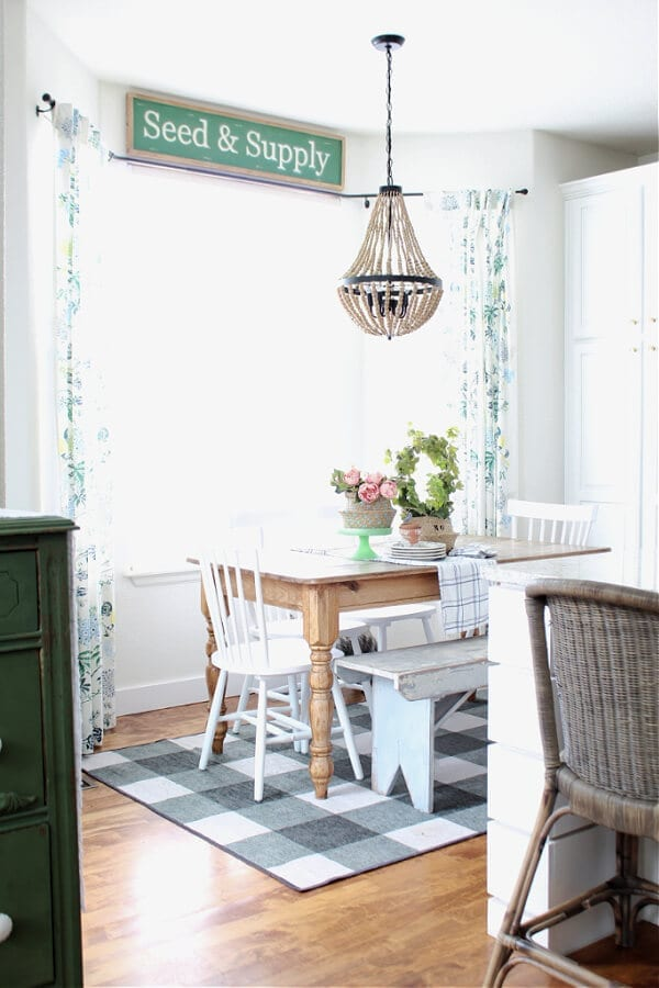 Simple Spring decorating ideas for your kitchen.
