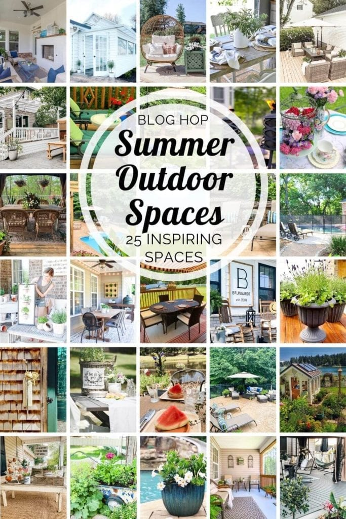 Enjoy 25 outdoor spaces to help you get your outdoor spaces summer ready!