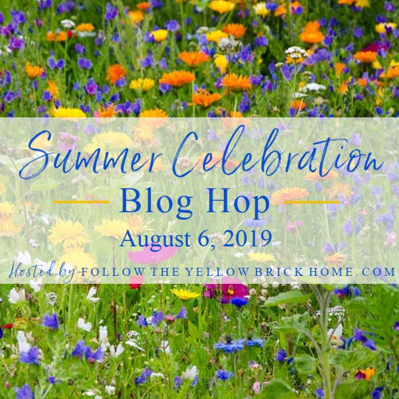 Summer Celebration Blog Hop with over 20 inspiring bloggers sharing summer decor and inspiration.