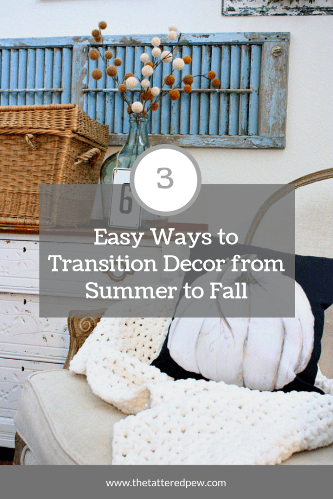 # Easy ways to transition your home decor from Summer to Fall!