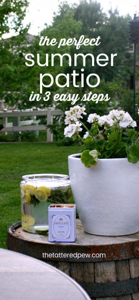 The perfect Summer patio in 3 easy steps!