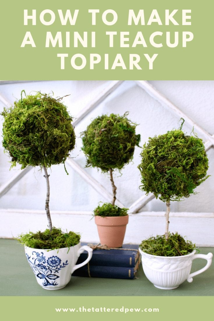 How to make a mini teacup topiary for decor.
