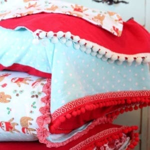Looking for a sweet and thoughtful Christmas gift? Try these easy DIY Christmas pillowcases.