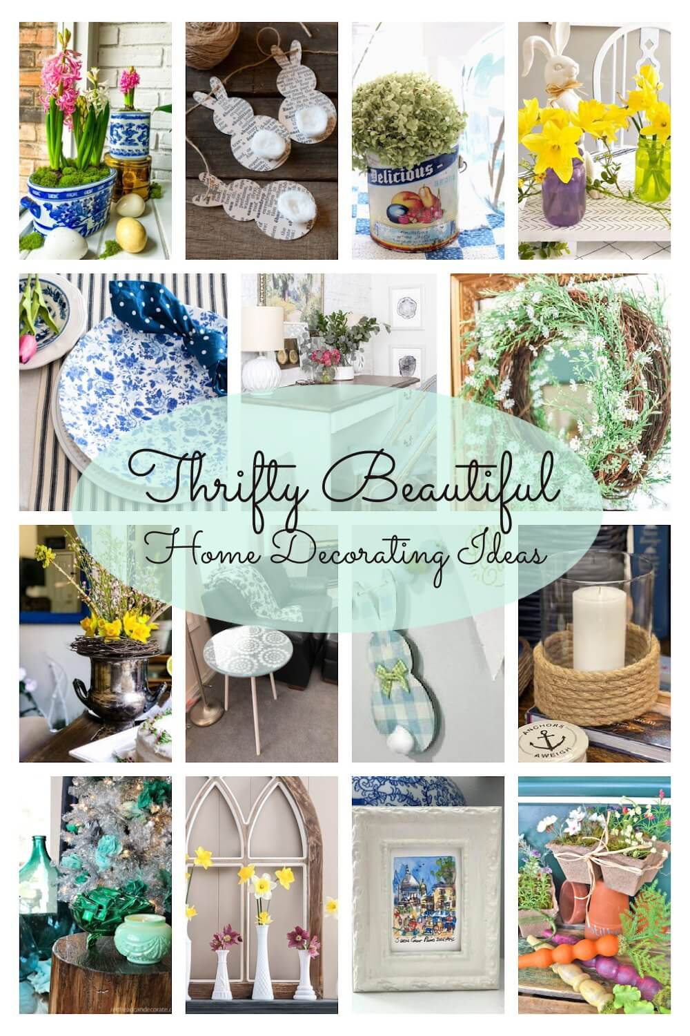 Check out this collection of thrifty and beautiful home decorating ideas!