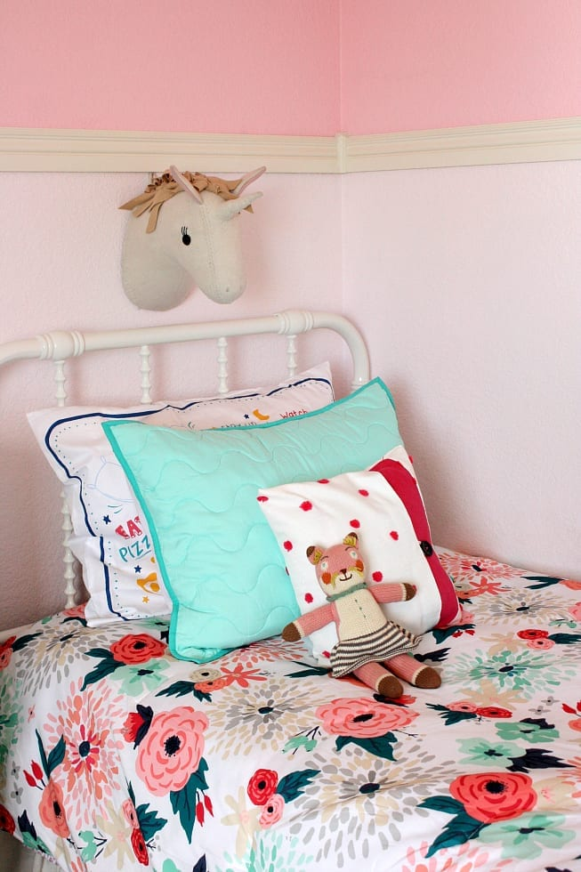 Little girls floral bedding