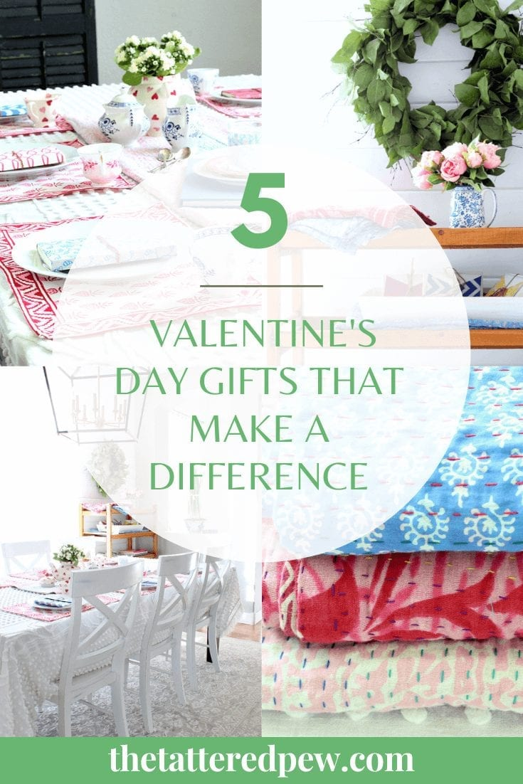 Use these 5 Valentine's Day Gift that make a difference to brighten someone's day!