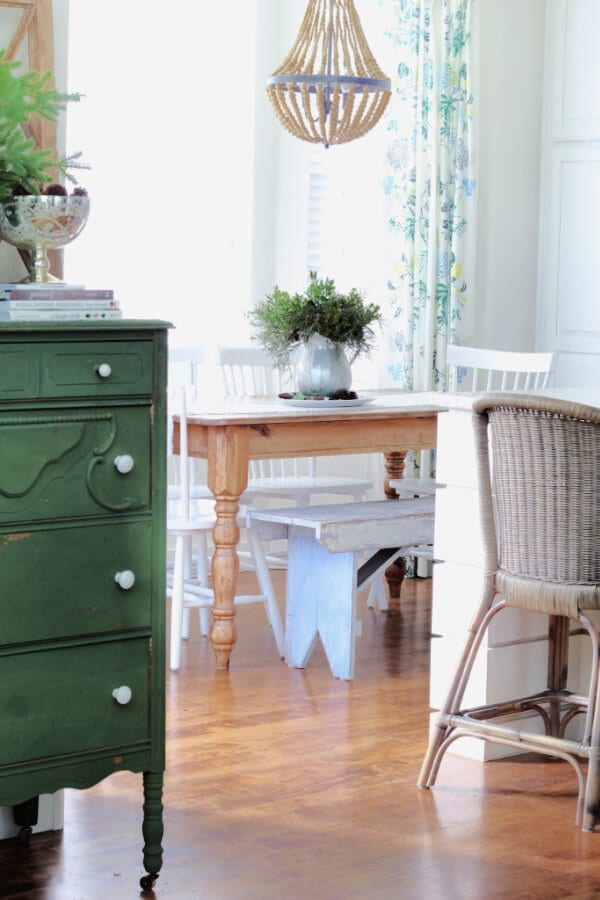 popping the blues and green for winter decor.