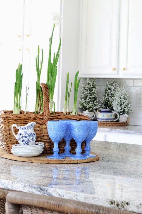 Paperwhites are the perfect kitchen winter decor!