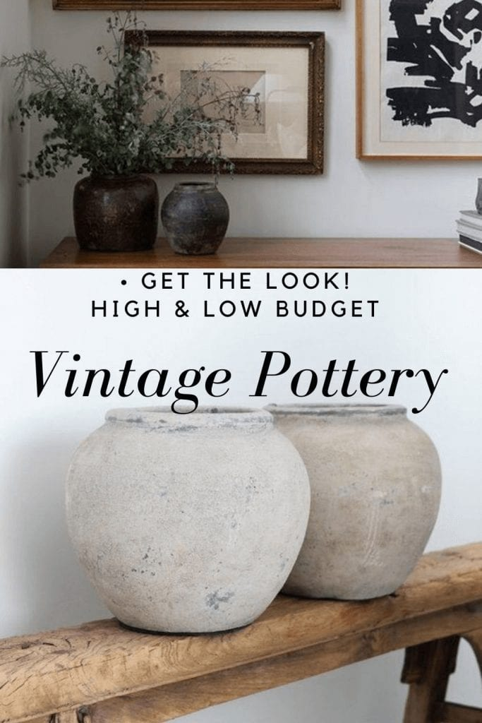 Welcome Home SUnday: get the look of vintage pottery!