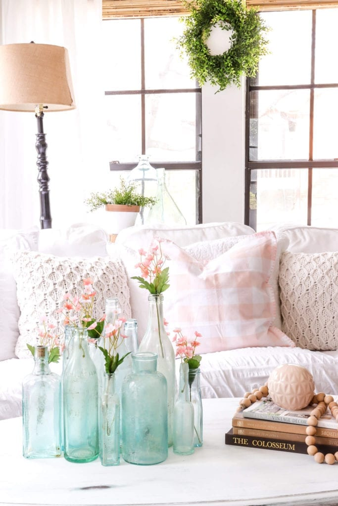 Welcome Home Sunday: Blue and Blush Spring Sunroom