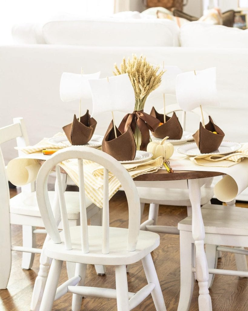 Welcome Home Sunday: Children's Thanksgiving Tablescape