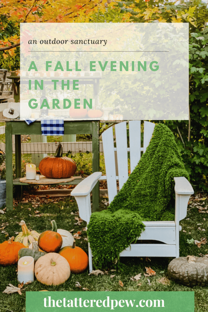 AN outdoor sanctuary for two...a Fall evening in the garden!