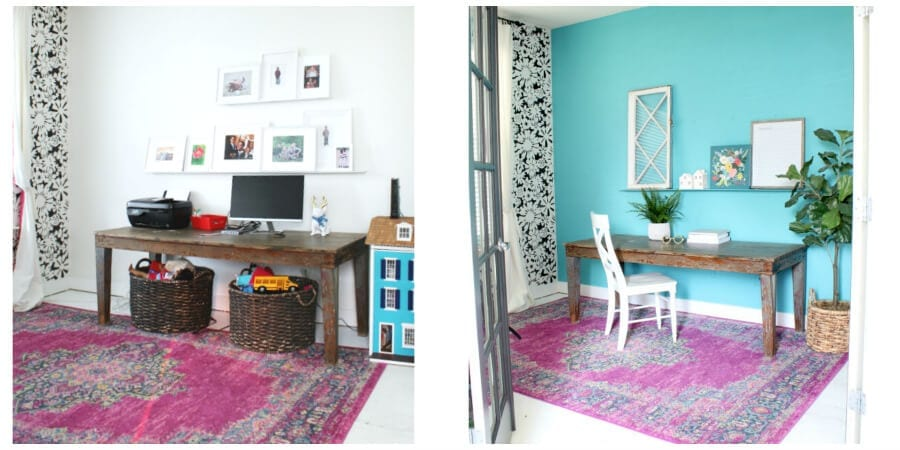 KILZ #accentwallchallenge BEFORE and AFTER!