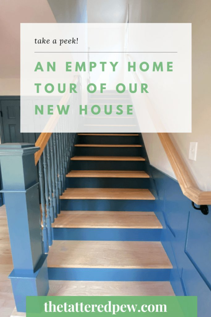 Welcome Home Saturday: Empty Home Tour of Our New House | Welcome Home Saturday by popular Alabama lifestyle blog, She Gave It A Go: Pinterest image of a new house tour.