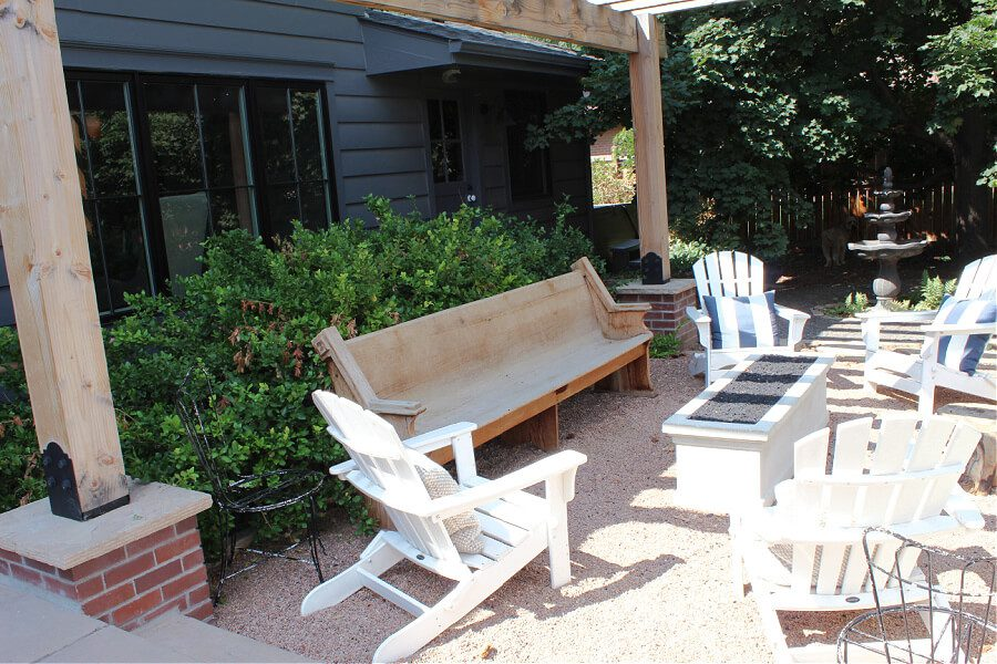 seating around our firepit in the back yard.