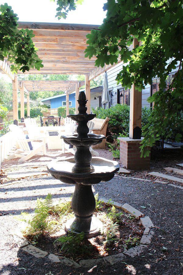 a fun backyard fountain.