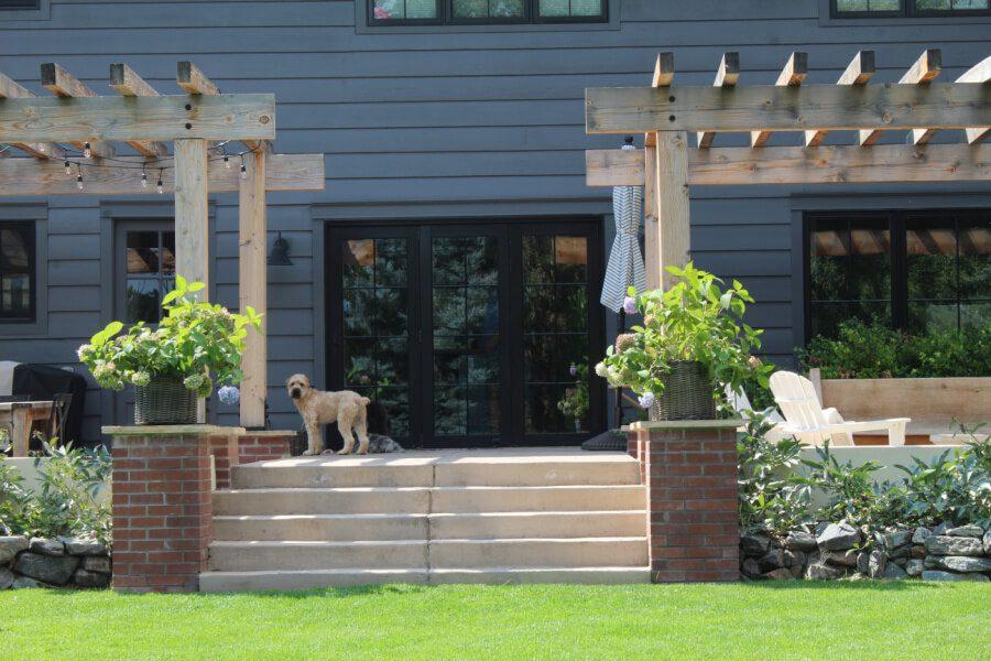 Kona loves our backyard too!