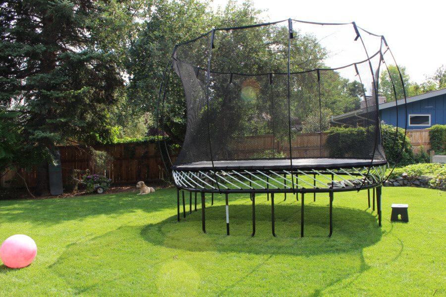 trampoline heaven in our huge backyard.