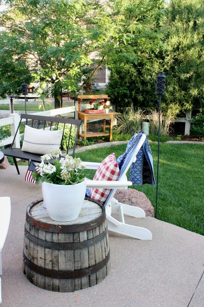 Our summer back patio sanctuary.
