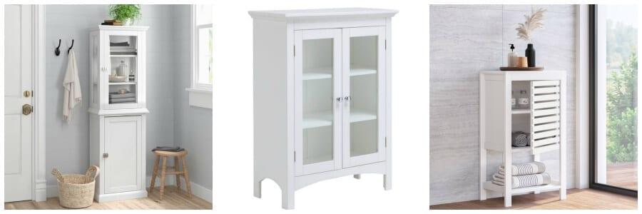 Bathroom storage cabinets from Wayfair..