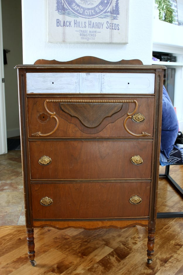 My favorite Boxwood green dresser before I got my hands on her.