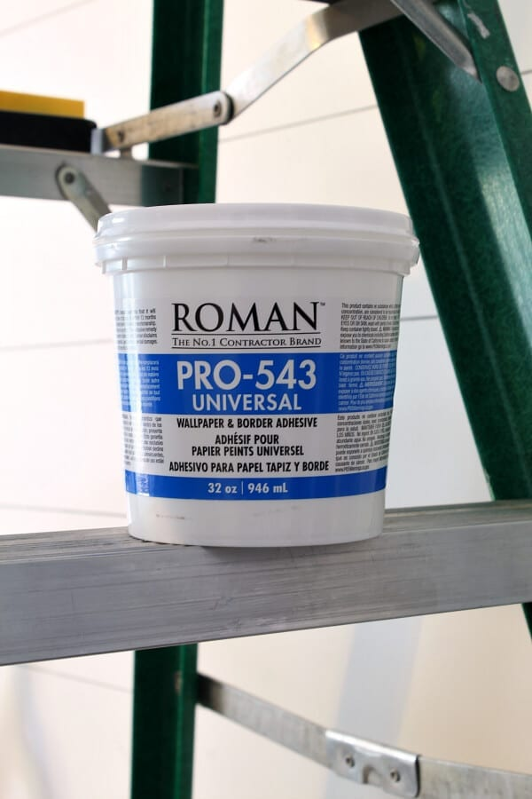This wallpaper paste was so easy to use! Come read my beginners guide to wallpapering.