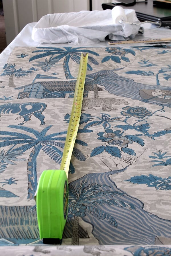 Make sure you add 2inches to the top and bottom of your wallpaper measurements.