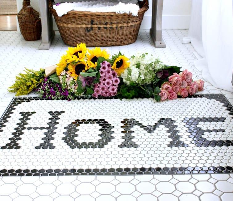 """""""Home"""" tiled doormat"""