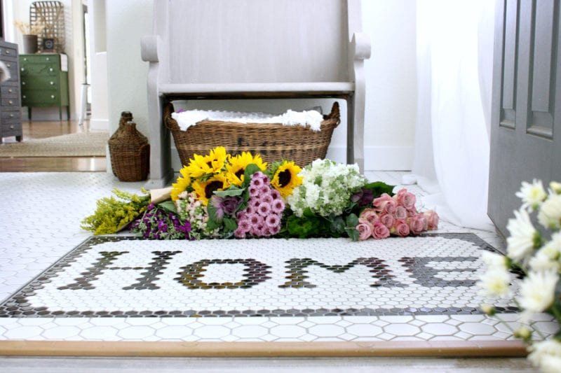 Welcome home...how a tiled doormat changed our entryway.