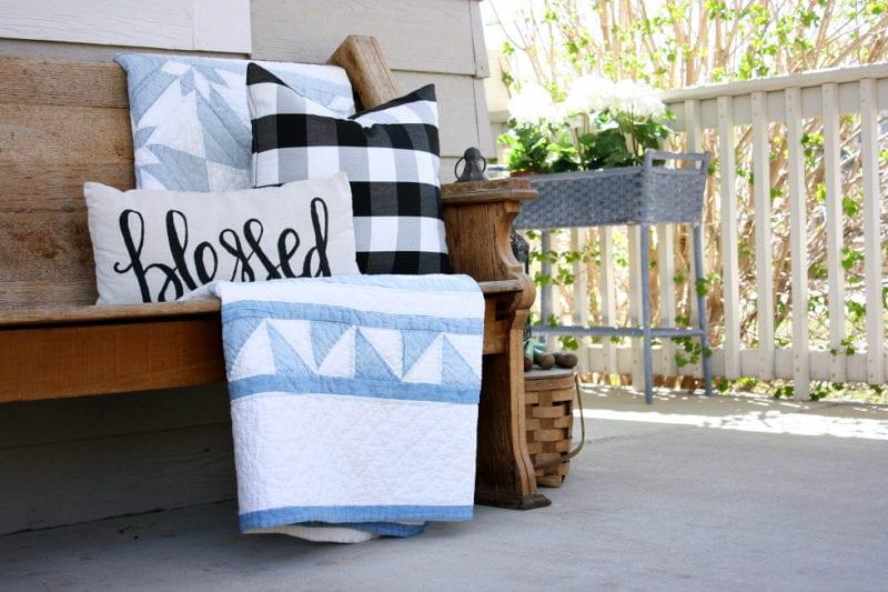 A simple Spring porch refresh.