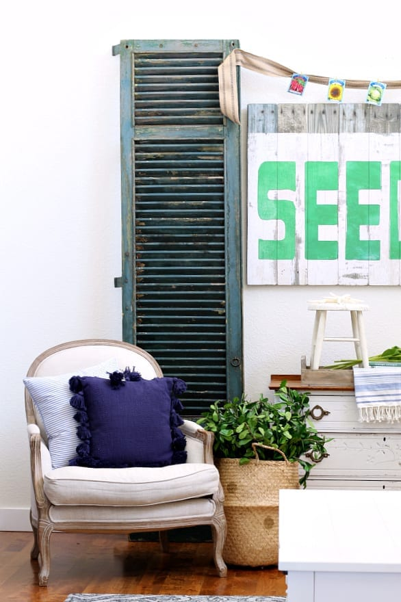 Mixing the old with the new and adding touches of blue and green can really make your summer decorating come to life!