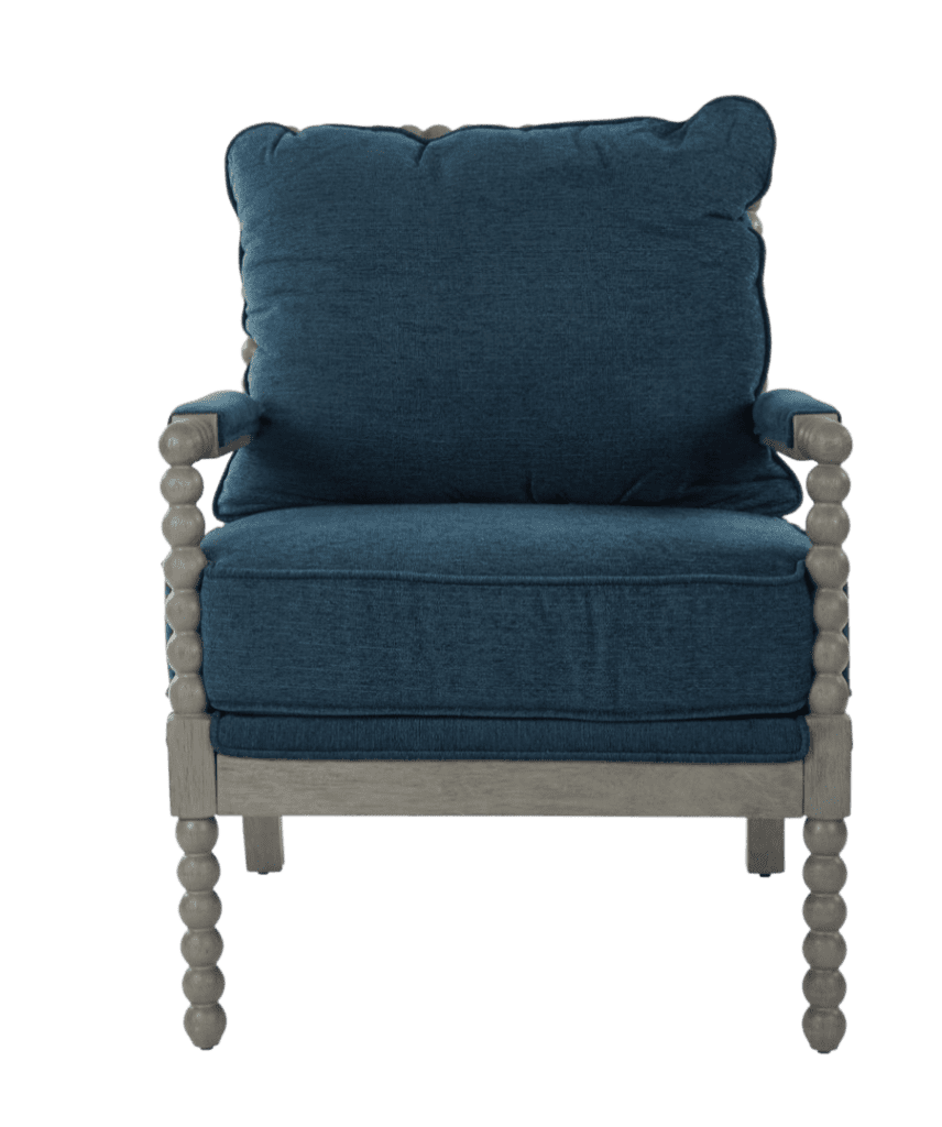This blue coastal farm house chair from Home Depot is just stunning!