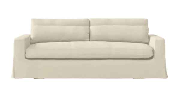 Affordable slipcovered sofa from Home Depot.