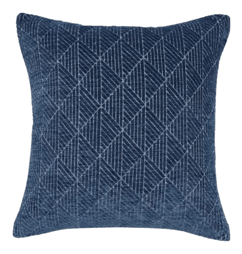 navy reversible throw pillow from Home Depot