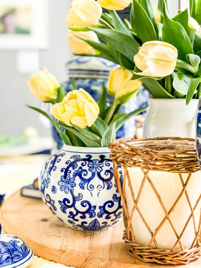 Tulips are perfect for a spring tablescape!