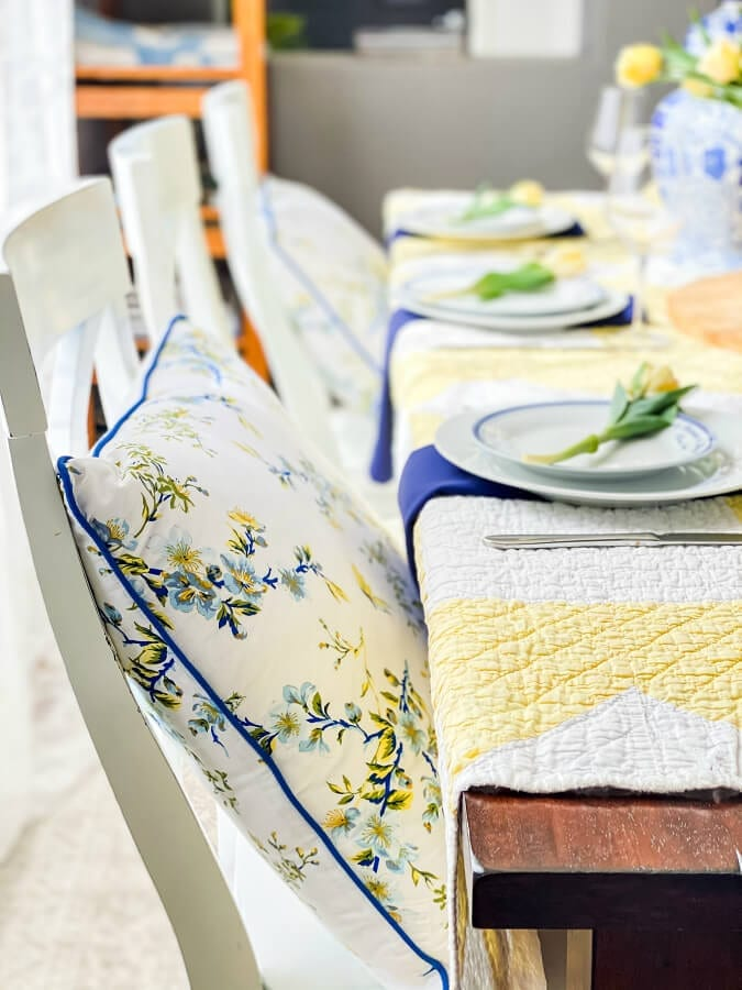 Pillows add that touch of comfort to any table!