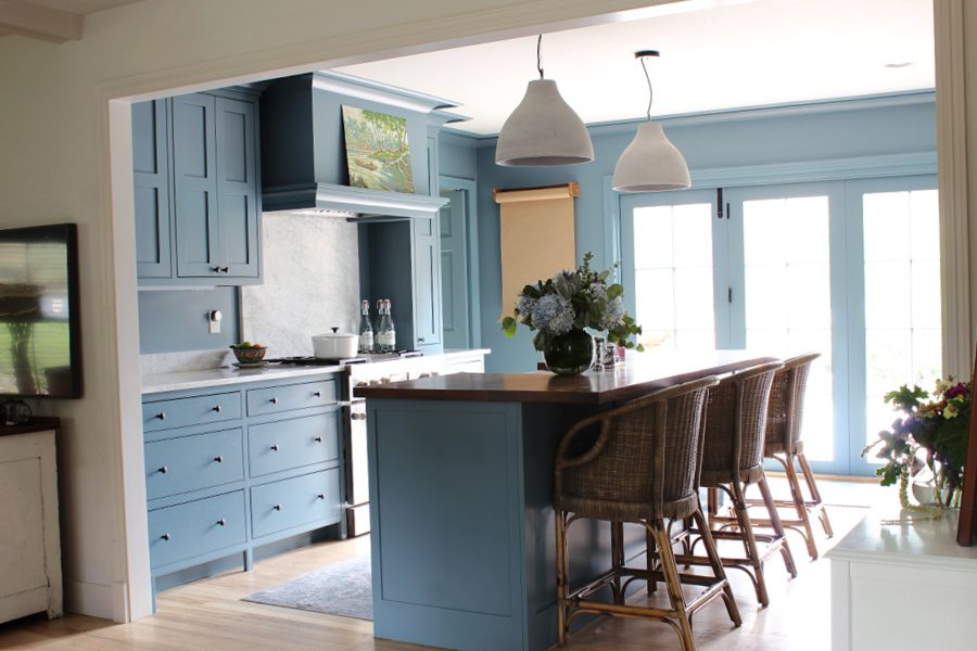 Fall in our new home...blue kitchen love!