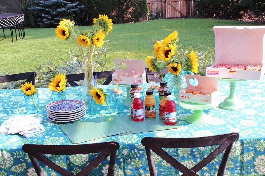 Welcome Home Saturday: Sunflower Breakfast for back to school!