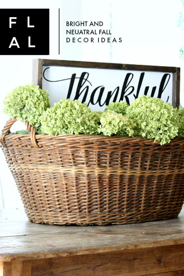 Bright and neutral fall decor ideas and free fall printables.