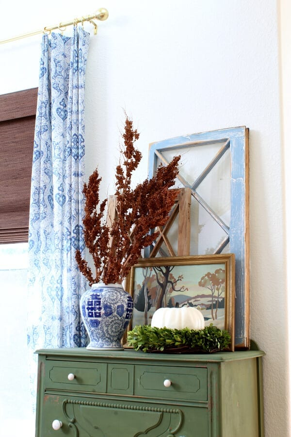 The Brilliant Colors of Fall Home Tour- Family Room
