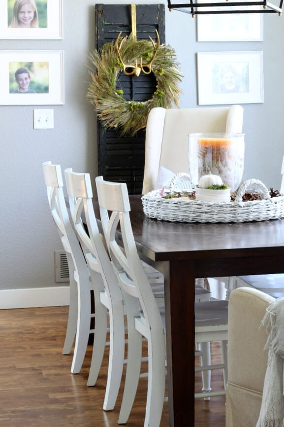 The Brilliant Colors of Fall Home Tour- Our Dining Room
