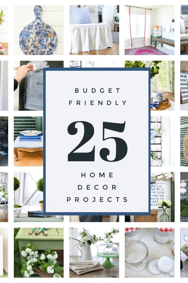 You will love checking out these 25 budget friendly home decor projects!