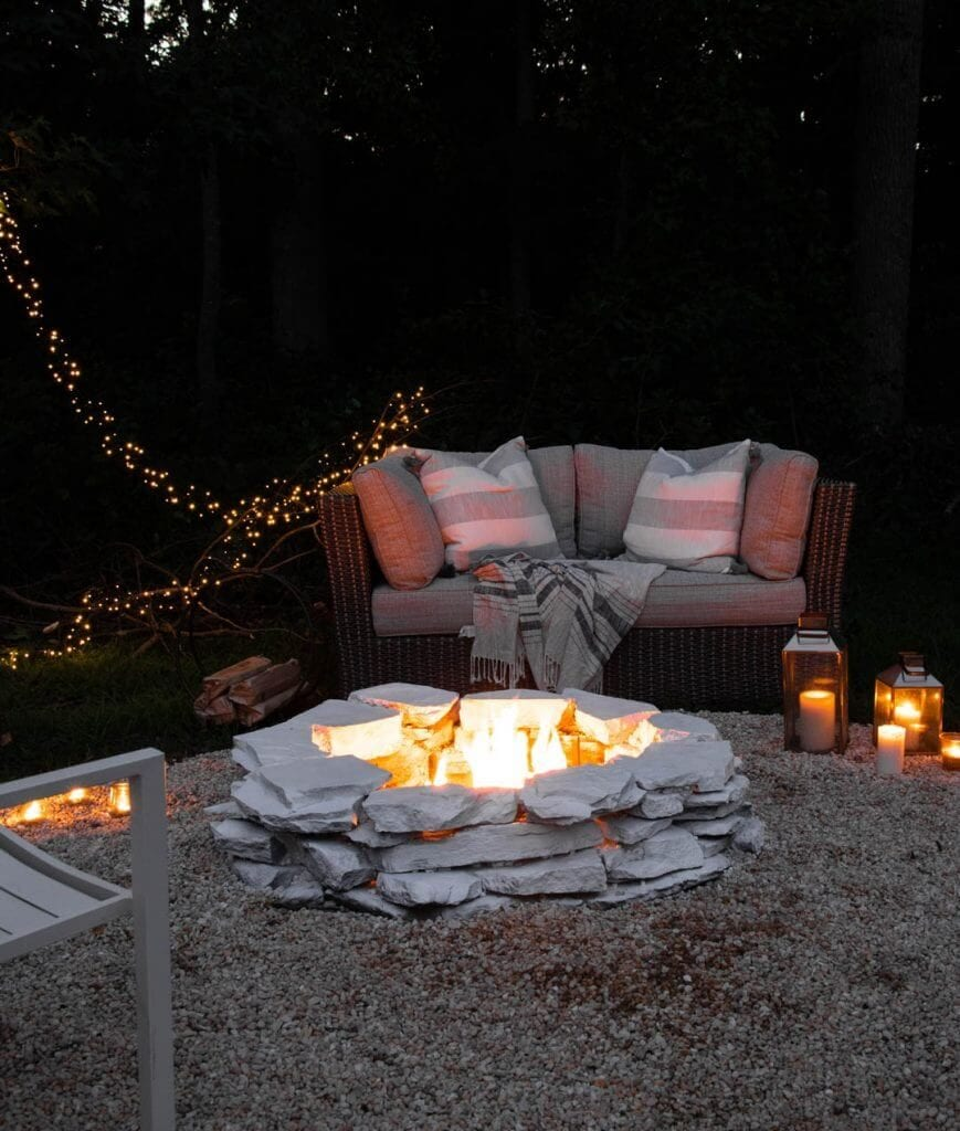 Welcome Home Sunday: Cozy summer fire pit
