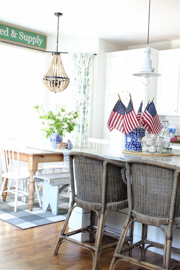 Patriotic touches in our casual summer home tour