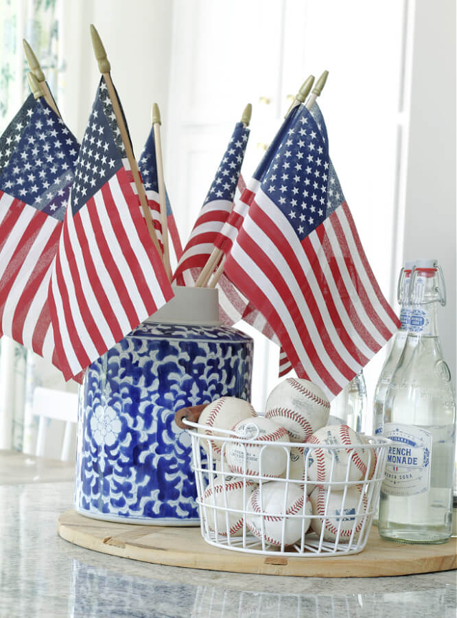 patriotic decor for our casual summer home tour