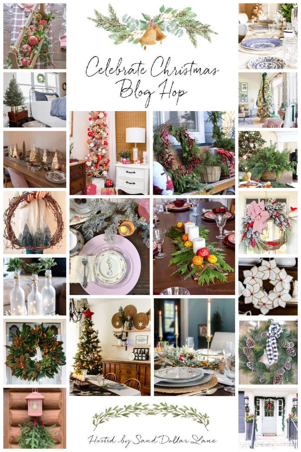 Celebrating Christmas Blog Hop: Trees, Wreaths, Doors, Tablescapes and Centerpieces