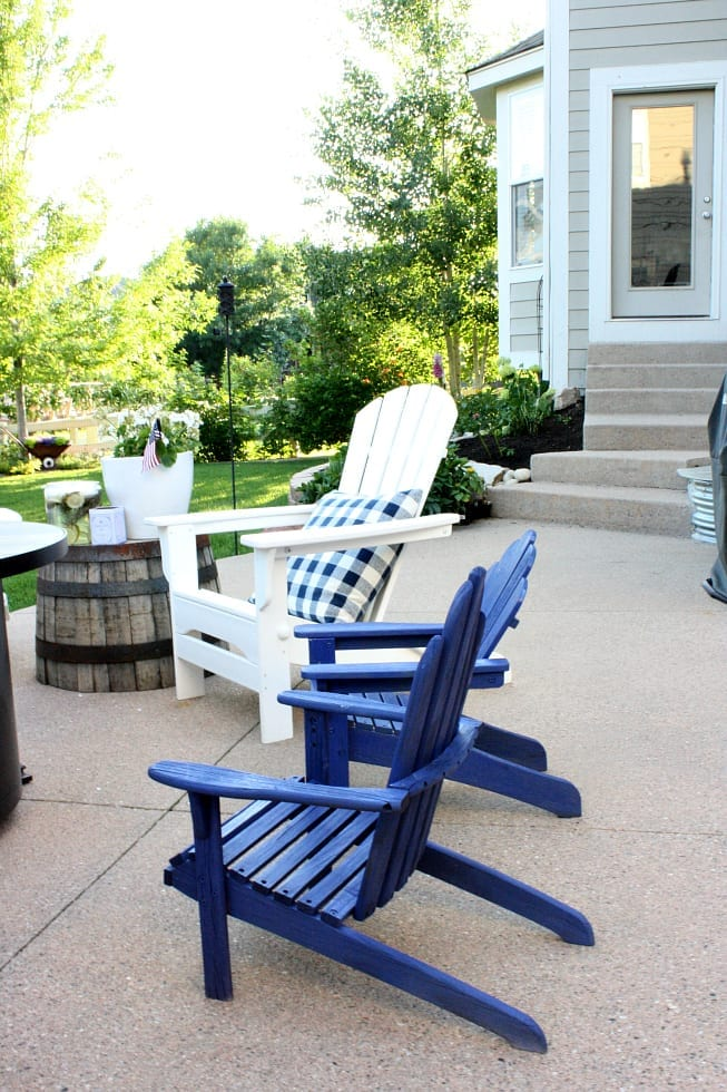 Adirondack chairs that are all weather make for easy and stylish patio furniture.